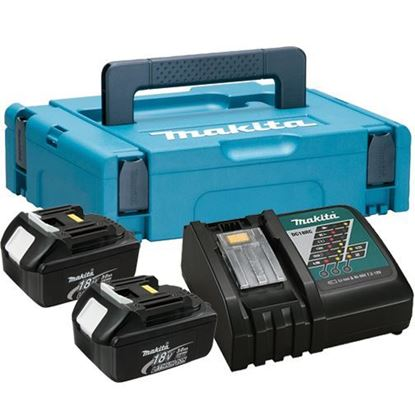 Picture of Сет литијум јонски акумулатори и полнач  Сет од две батерии 18В/3 Ах и полнач